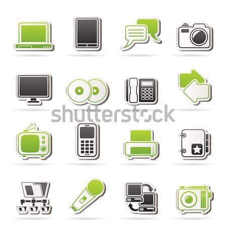 Technische uitrusting iconen vector business Stockfoto © stoyanh