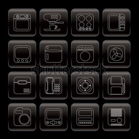Line wyposażenie ikona wektora działalności Zdjęcia stock © stoyanh
