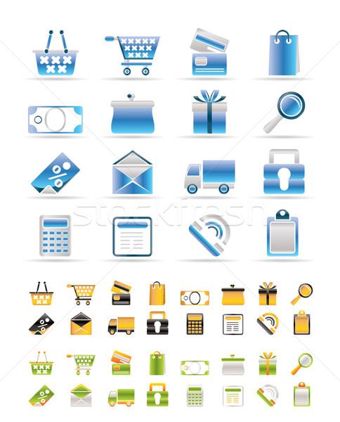 Stock foto: Online · Laden · Symbole · Vektor · Farben