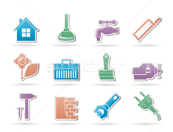 construction and do it yourself icons Stock photo © stoyanh