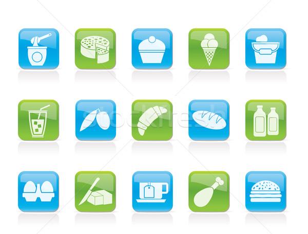 żywności pić ikona wektora Zdjęcia stock © stoyanh