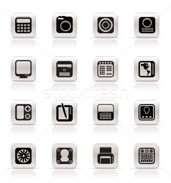 Foto stock: Tecnologia · equipamento · vetor · computador · projeto