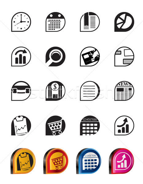 Simple Business and Office  Internet Icons - Vector Icon Set  Stock photo © stoyanh