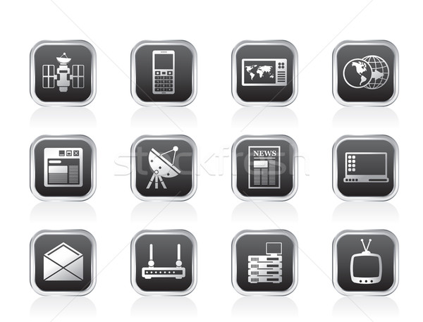 Communication and Business Icons  Stock photo © stoyanh