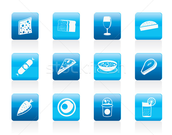 Shop, food and drink icons 2  Stock photo © stoyanh