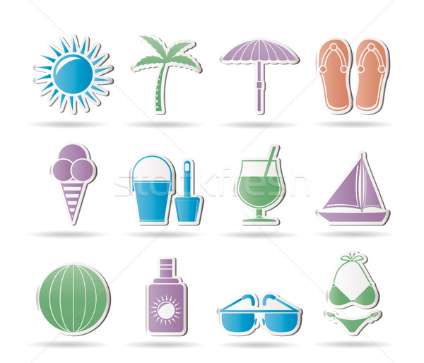 Summer, Holiday and beach objects  Stock photo © stoyanh
