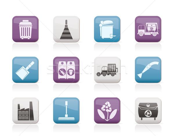 Nettoyage industrie environnement icônes vecteur Photo stock © stoyanh