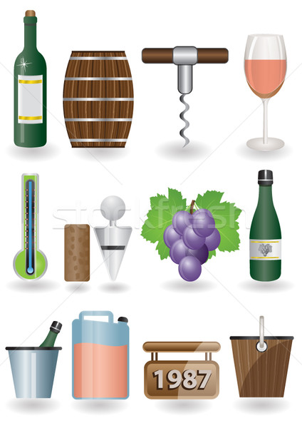 Stock photo: Drink and Wine icons