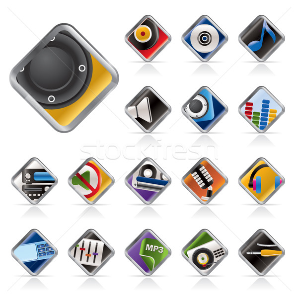 Music and sounds icons  Stock photo © stoyanh