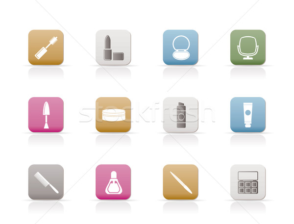 cosmetic and make up icons  Stock photo © stoyanh