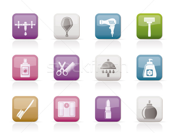 Personal care and cosmetics  icons Stock photo © stoyanh