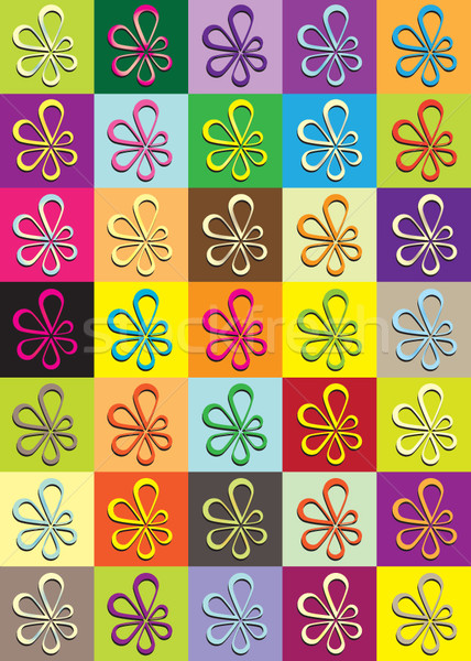 ストックフォト: 異なる · 色 · 花 · アイコン · 春 · 背景