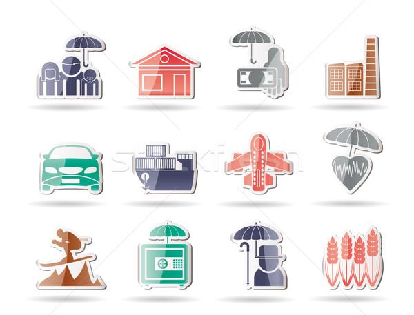 Inny ubezpieczenia ryzyko ikona wektora Zdjęcia stock © stoyanh