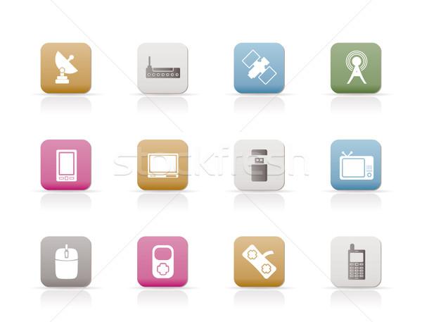 технологий связи иконки вектора дизайна Сток-фото © stoyanh