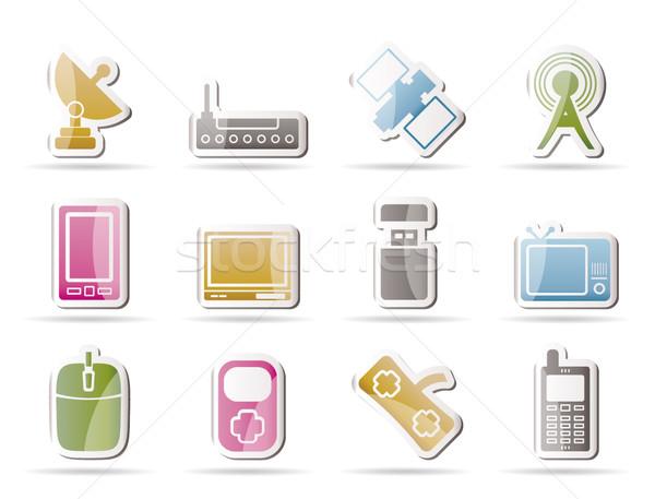 Teknoloji iletişim simgeler vektör dizayn Stok fotoğraf © stoyanh