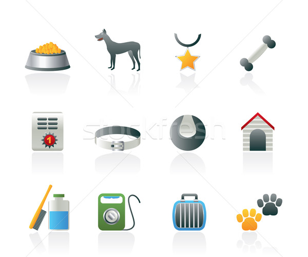 dog accessory and symbols icons  Stock photo © stoyanh