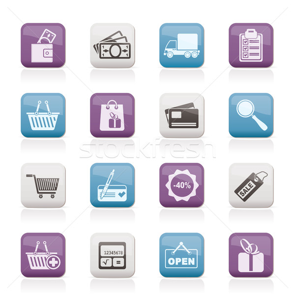 Shopping and website icons  Stock photo © stoyanh