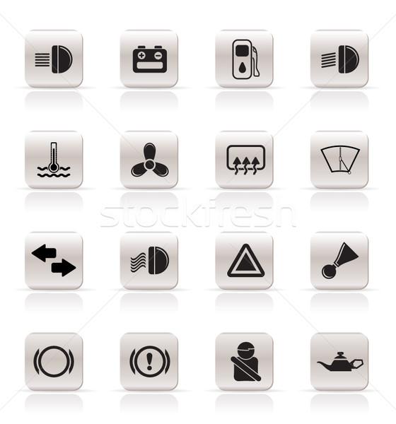 車 ダッシュボード 単純な ベクトル インターネット ストックフォト © stoyanh