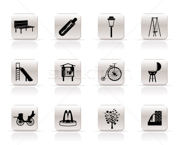 Zdjęcia stock: Parku · obiektów · znaki · ikona · wektora