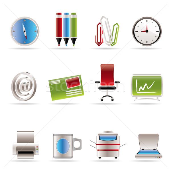 Działalności biuro narzędzia ikona wektora Zdjęcia stock © stoyanh