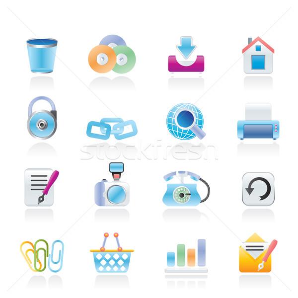 сайт Интернет иконы вектора служба дома Сток-фото © stoyanh