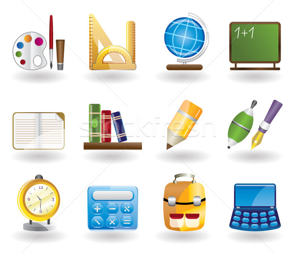 School and education icons  Stock photo © stoyanh