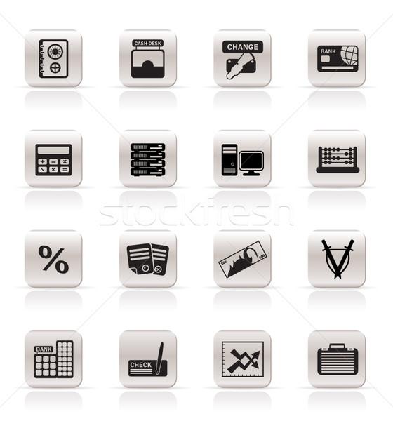 Banku działalności finansów biuro ikona wektora Zdjęcia stock © stoyanh