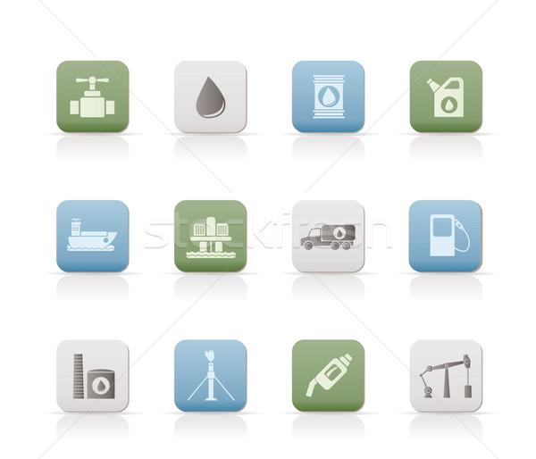 Zdjęcia stock: Oleju · benzyny · przemysłu · obiektów · ikona · wektora