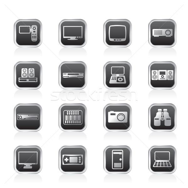 Wyposażenie ikona wektora działalności komputera Zdjęcia stock © stoyanh