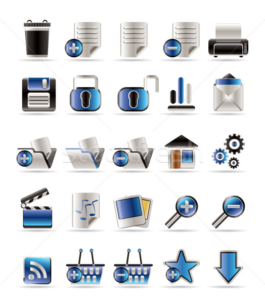 25 Realistic Detailed Internet Icons Stock photo © stoyanh