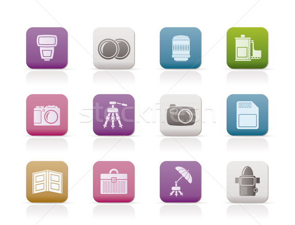 Stock photo: Photography equipment icons
