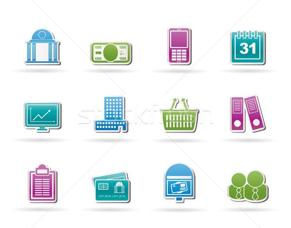 Zdjęcia stock: Działalności · finansów · ikona · wektora · telefonu