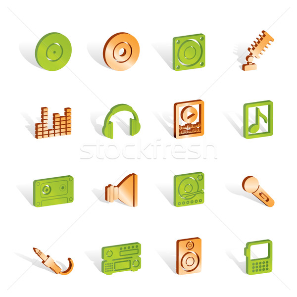 Music and sound icons  Stock photo © stoyanh
