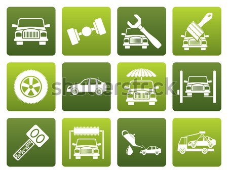 car and transportation insurance and risk icons Stock photo © stoyanh