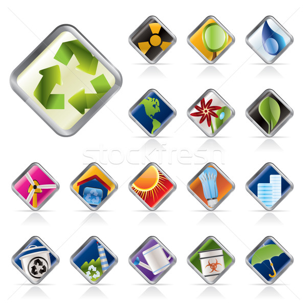 Realistic Icon - Ecology - Set for Web Applications  Stock photo © stoyanh
