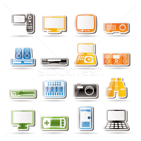 Simple iconos vector negocios Foto stock © stoyanh