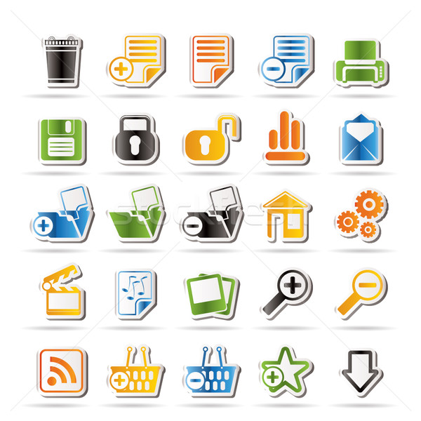 25 Simple Realistic Detailed Internet Icons  Stock photo © stoyanh