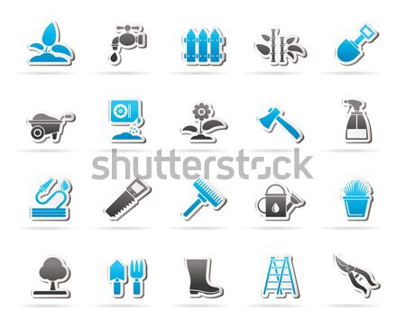 Mining and quarrying industry objects and icons  Stock photo © stoyanh