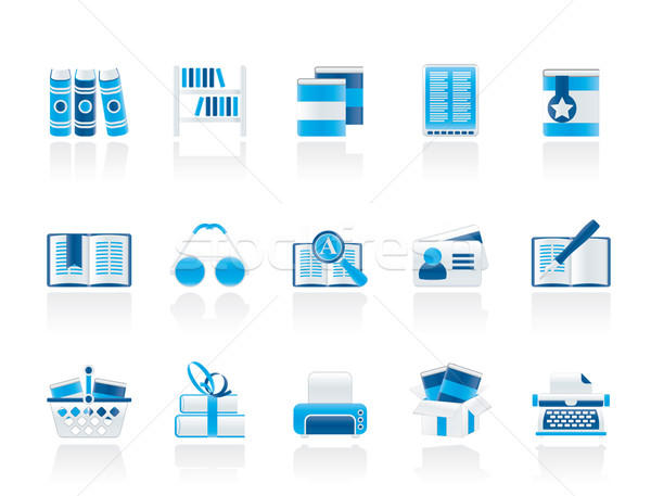 Library and books Icons  Stock photo © stoyanh