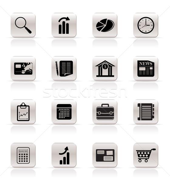 Business kantoor internet pictogrammen vector gebouw Stockfoto © stoyanh