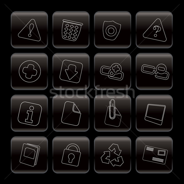 Line Web site and computer Icons  Stock photo © stoyanh
