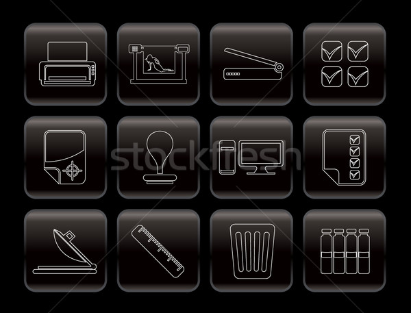 Print industry Icons  Stock photo © stoyanh