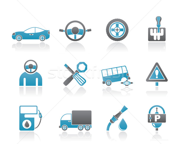 Stock photo: car services and transportation icons