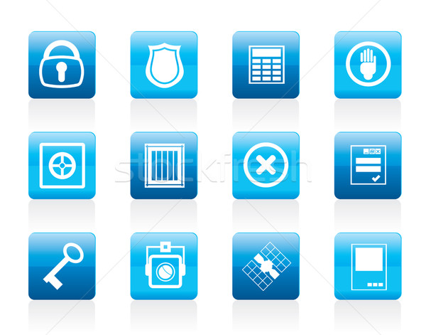 Simple Security and Business icons  Stock photo © stoyanh