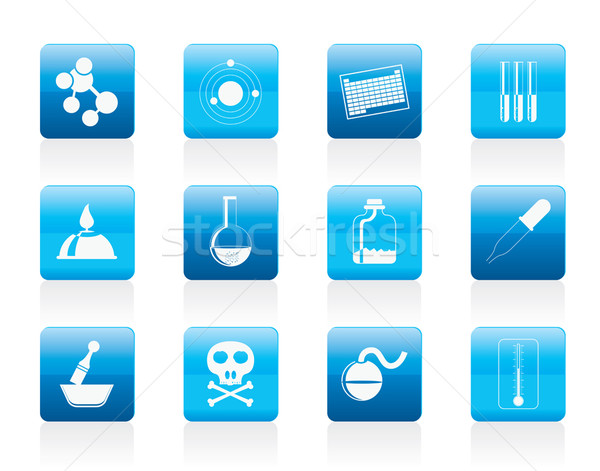 Chemistry industry icons  Stock photo © stoyanh