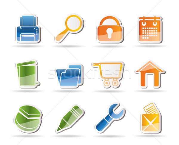 Site internet ícones do computador vetor computador Foto stock © stoyanh