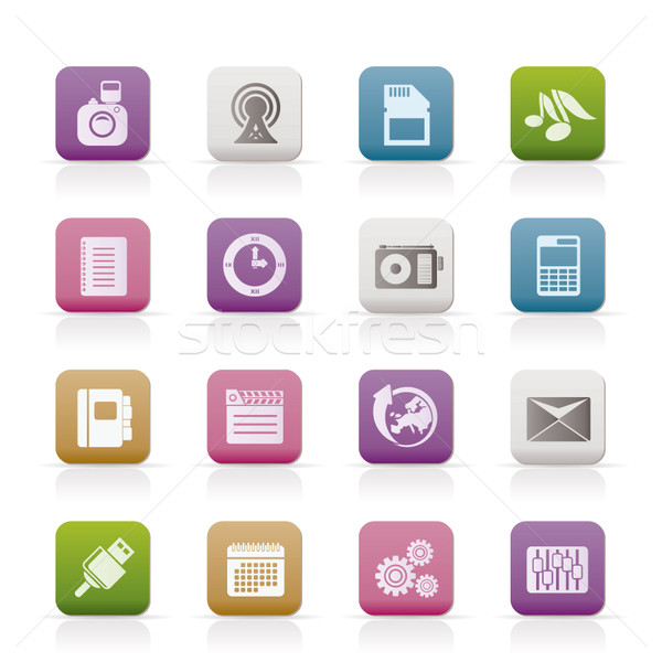 Stock photo: Phone Performance, Business and Office Icons