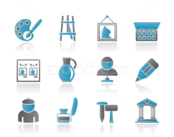 Fine art objects icons Stock photo © stoyanh