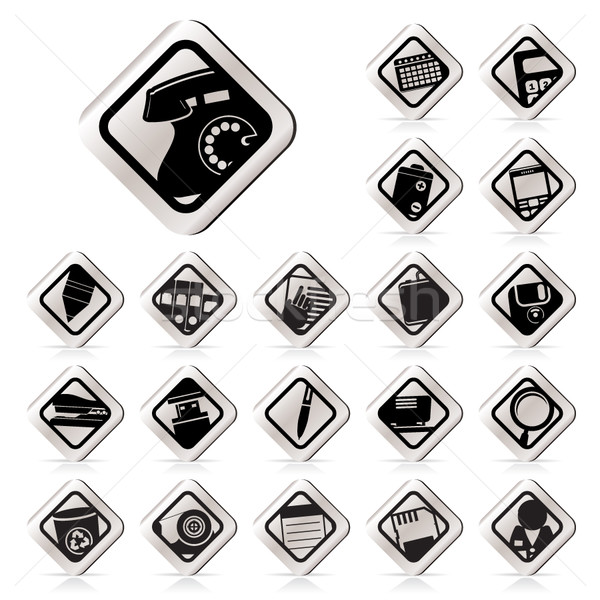 Stock photo: Simple Office tools icons
