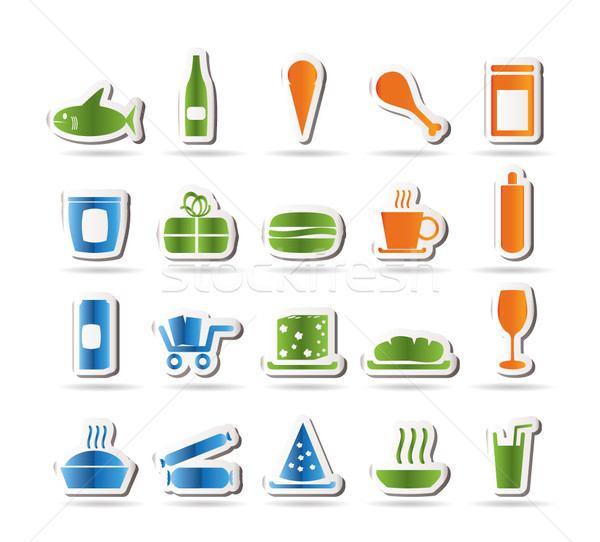 Shop and Foods Icons  Stock photo © stoyanh